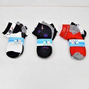 NWT 9-Pairs Boy's Cotton Low Cut Socks 4-8 YO